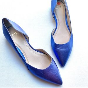Marc Fisher LTD Sunny D'orsay flats Blue leather 7